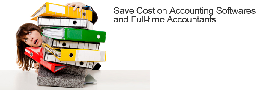 Save Cost on Accounting Softwares and Full-time Accountants