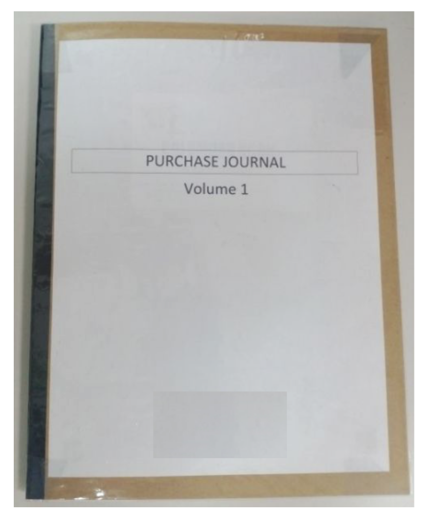 Purchase Journal Front Cover