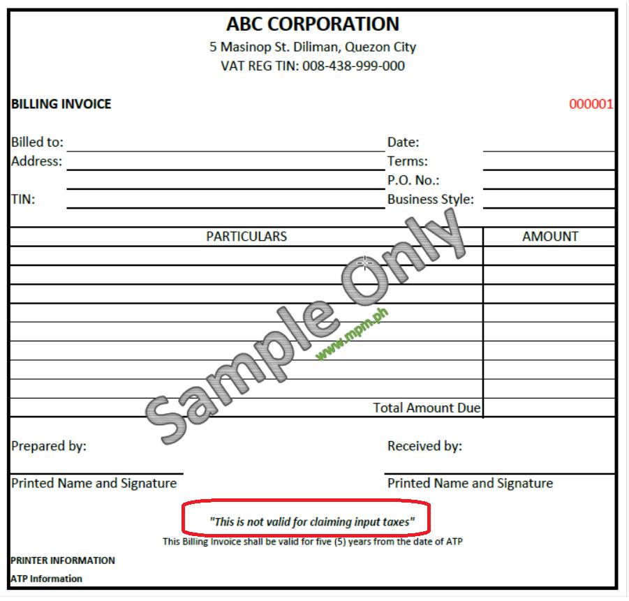 Sales Invoice Vs Billing Invoice